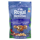 Royal Hawaiian Orchards Blueberry Pomegranate - Macadamia Crunch - Case of 6 - 4 oz.