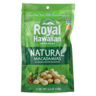 Royal Hawaiian Orchards Macadamias - Natural Roasted - Case of 6 - 5 oz.