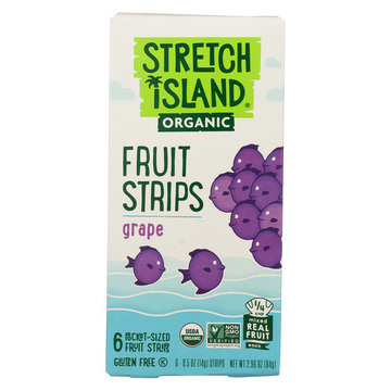 Stretch Island Organic Fruit Strips - Grape - Case of 12 - 3 oz.