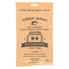 Three Jerks Jerky Filet Mignon Maple Bourbon Churro Jerky - Sweet and Booz.y - Case of 12 - 2 oz.