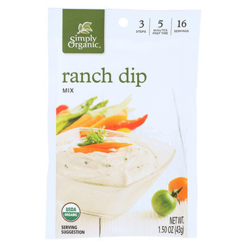 Simply Organic Ranch Dip Mix - Case of 12 - 1.5 oz.