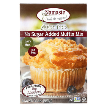 Namaste Foods Gluten Free Sugar Free Muffin - Mix - Case of 6 - 14 oz.