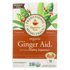 Traditional Medicinals Organic Herbal Tea - Ginger Aid - Case of 6 - 10 Count