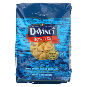 DaVinci Bowties Pasta - Case of 12 - 1 lb.