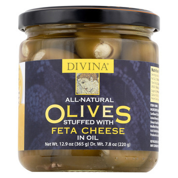 Divina - Olives Stuffed with Feta Cheese - Case of 6 - 7.8 oz.