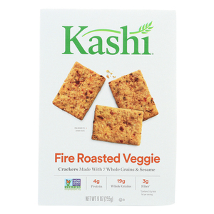 Kashi Crackers Fire Roasted Veggie - Case of 12 - 9 oz.