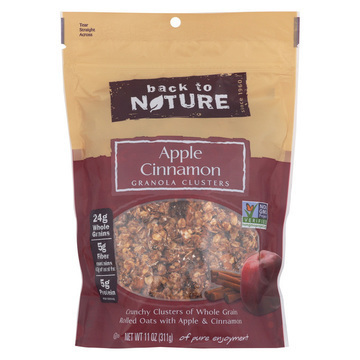 Back To Nature Granola Clusters - Apple Cinnamon - Case of 6 - 11 oz.