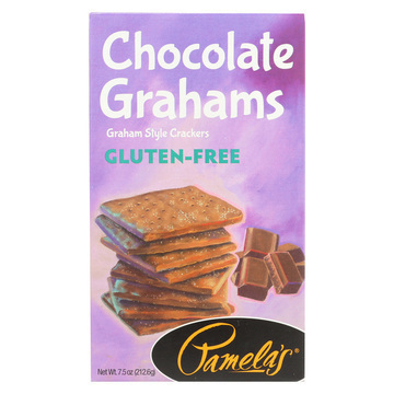 Pamela's Products Mini Grahams - Chocolate - Case of 6 - 7.5 oz.