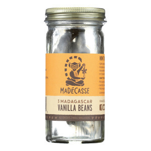 Madecasse Bourbon Vanilla Beans - Case of 12 - 3 Count