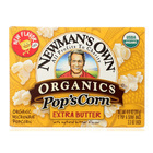 Newman's Own Organics Butter Popcorn - Extra Butter - Case of 12 - 3.3 oz.
