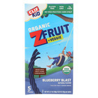 Clif Bar Organic Kid Zfruit Plus Veggie - Blueberry Blast - Case of 6 - 0.7 oz.