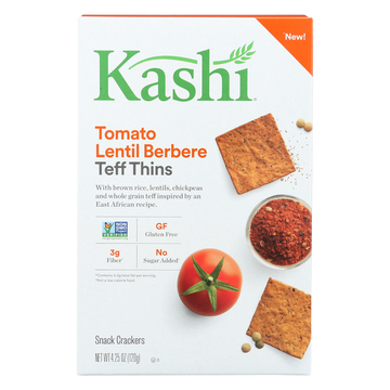 Kashi Tomato Lentil Berbere Teff Thins - Case of 6 - 4.25 oz.