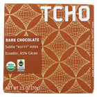 Tcho Chocolate Dark Chocolate Bar - Nutty 65 Percent Cacao - Case of 12 - 2.5 oz.