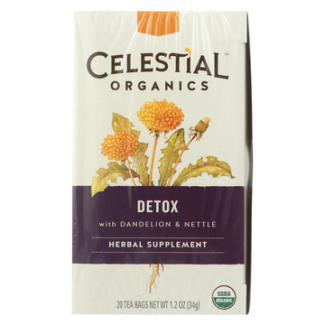 Celestial Wellness Tea - Detox with Dandelion and Nettle - Case of 6 - 20 Bags