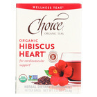 Choice Organic Wellness Tea - Hibiscus Heart - Case of 6 - 16 Bags