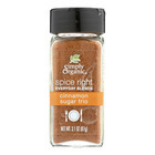 Simply Organic Spice Right Cinnamon Sugar Trio - Case of 6 - 3.1 oz.