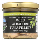 Wild Planet Wild Albacore Tuna Fillets in Olive Oil - Case of 12 - 4.5 oz.
