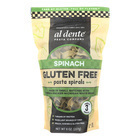 Al Dente Gluten Free Pasta Spirals - Spinach - Case of 6 - 8 oz.