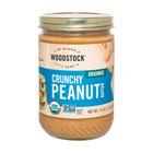 Woodstock Organic Peanut Butter - Crunchy - Case of 12 - 16 oz.