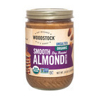 Woodstock Organic Almond Butter - Smooth - Unsalted - 16 oz.
