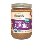 Woodstock - Organic Almond Butter - Crunchy - Unsalted - 16 oz.