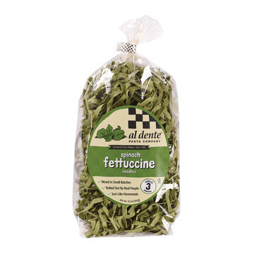 Al Dente - Fettuccine - Spinach - Case of 6 - 12 oz.