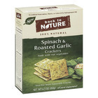 Back To Nature Spinach and Roasted Garlic Crackers - Spinach Roasted Garlic and Sea Salt - Case of 6 - 6.5 oz.