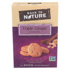 Back To Nature Triple Ginger Cookies - Case of 12 - 9 oz.