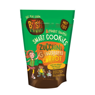 Bitsys Brain food Zucchini Gingerbread - Carrot - Case of 6 - 5 oz.