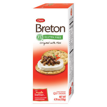 Breton/Dare - Crackers - Original with Flax - Case of 6 - 4.76 oz.