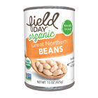 Field Day Organic Great Northern Beans - Northern Beans - Case of 12 - 15 oz.