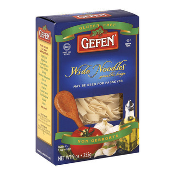 Gefen Noodles Wide - Case of 12 - 9 oz.