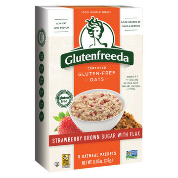Gluten Freeda Instant Oatmeal - Strawberries and Brown Sugar - Case of 8 - 10.2 oz.