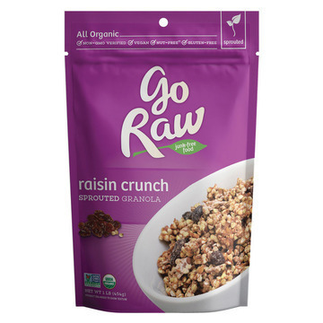 Go Raw - Organic Sprouted Granola - Raisin Crunch - Case of 6 - 16 oz.