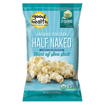 Good Health Half Naked Popcorn - Sea Salt - Case of 12 - 3.5 oz.