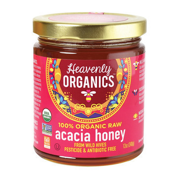 Heavenly Organics Organic Honey - Acacia Honey - Case of 6 - 12 oz.