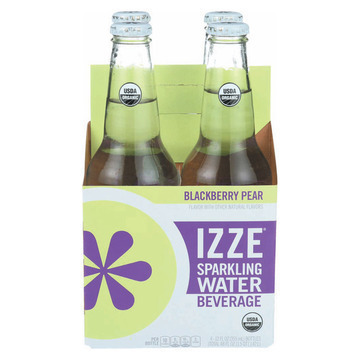 Izze Organic Sparkling Water - Blackberry Pear - Case of 6 - 12 Fl oz.