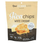 Jicachips Jicama Chips - White Cheddar - Case of 8 - 0.9 oz.