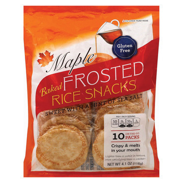 Kameda Frosted Rice Snacks - Maple - Case of 6 - 4.1 oz.