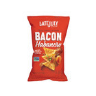 Late July Snacks Classic Tortilla Chips - Bacon Habanero - Case of 12 - 5.5 oz.
