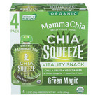 Mamma Chia Squeeze Vitality Snack - Green Magic - Case of 6 - 3.5 oz.