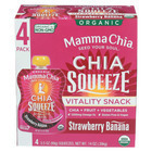 Mamma Chia Organic Squeeze Vitality Snack - Strawberry Banana - Case of 6 - 3.5 oz.
