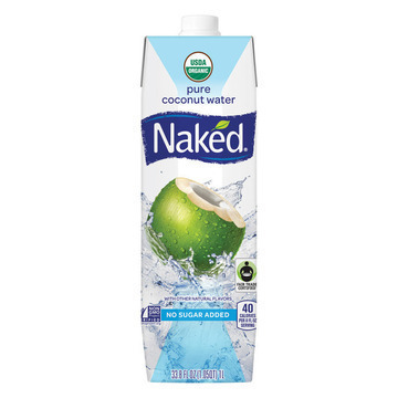 Naked Pure Coconut Water - Case of 12 - 33.8 Fl oz.