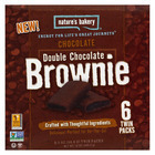 Nature's Bakery Stone Ground Whole Wheat - Double Chocolate Brownie - Case of 6 - 12 oz.