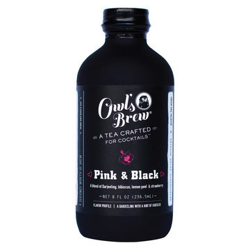 Owl's Brew Pink and Black Tea - Case of 6 - 8 Fl oz.