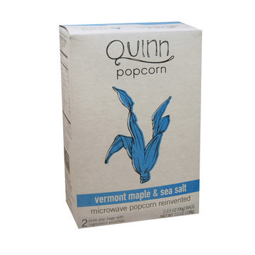 Quinn - Microwave Popcorn - Vermont Maple and Sea Salt - Case of 6 - 7 oz.