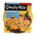 Simply Asia Sesame Teriyaki Noodle Bowl - Case of 6 - 8.5 oz.