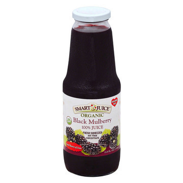 Smart Juice Organic Black Mulberry and Cranberry - Case of 6 - 33.8 Fl oz.