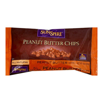 Sunspire Foods Peanut Butter Baking Chips - Case of 12 - 10 oz.