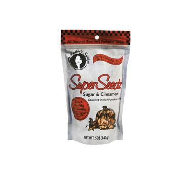 Superseedz Gourmet Pumpkin Seeds - Cinnamon and Sugar - Case of 6 - 5 oz.